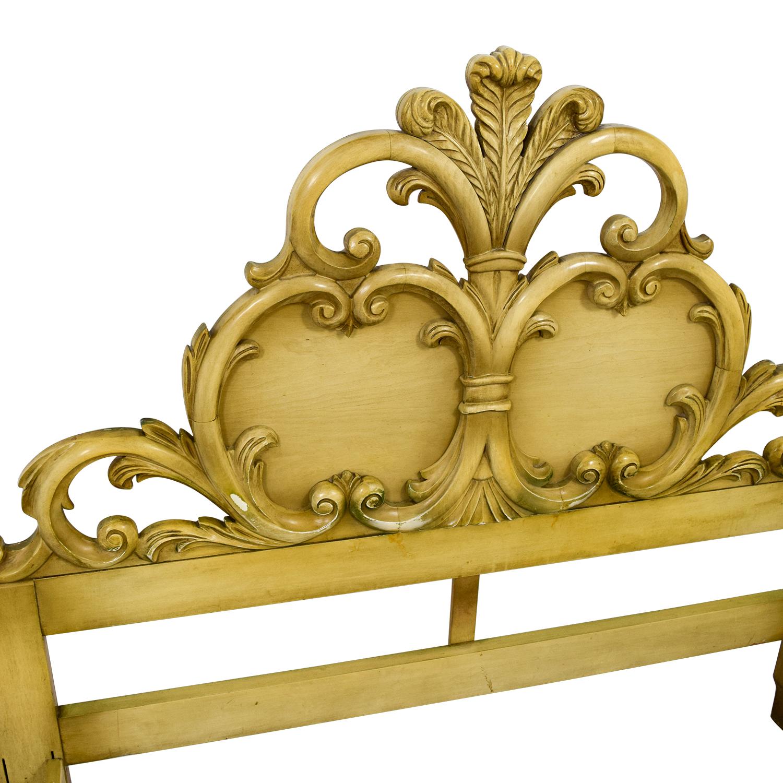 90 Off Gold Carved Full Bed Frame Beds