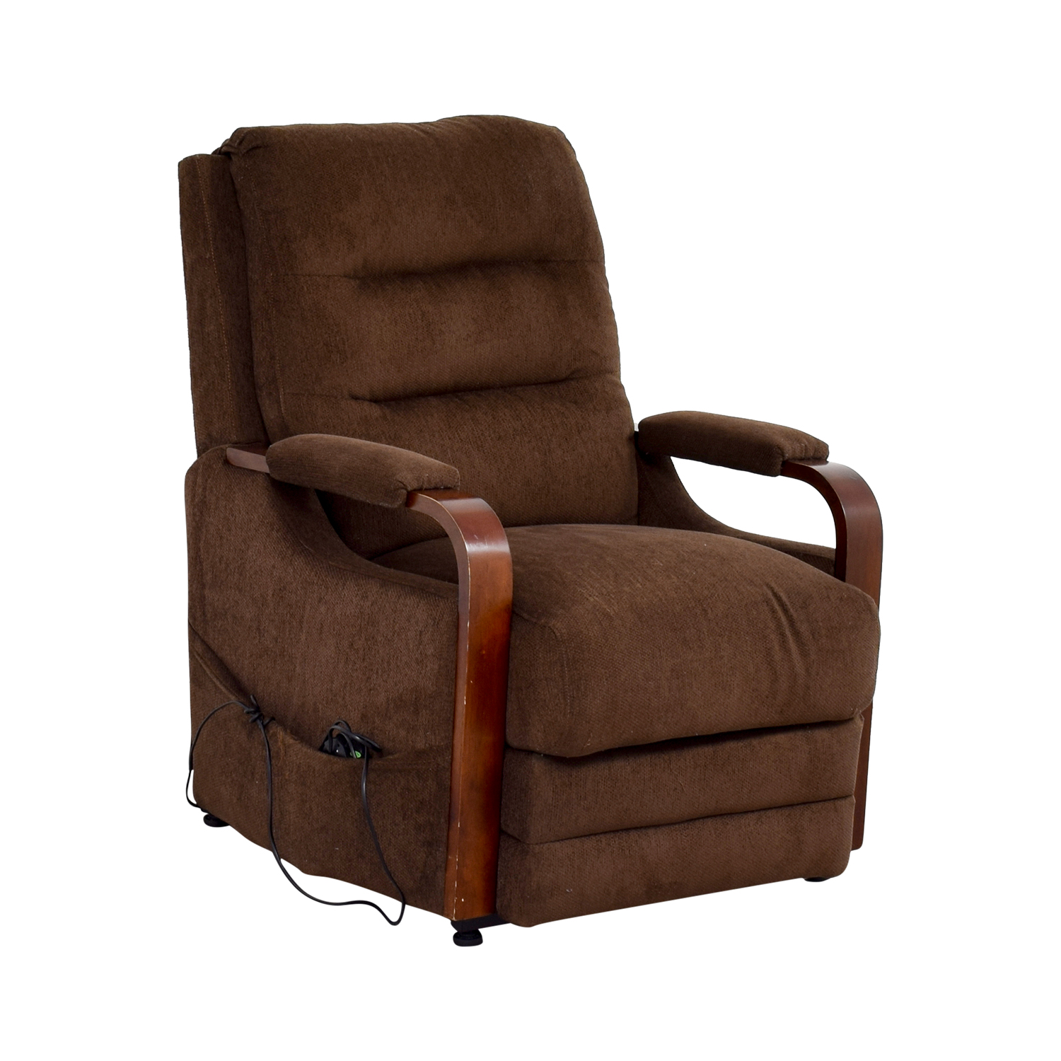 90 off bob 39 s furniture bob 39 s furniture brown recliner chair with remote chairs. Black Bedroom Furniture Sets. Home Design Ideas