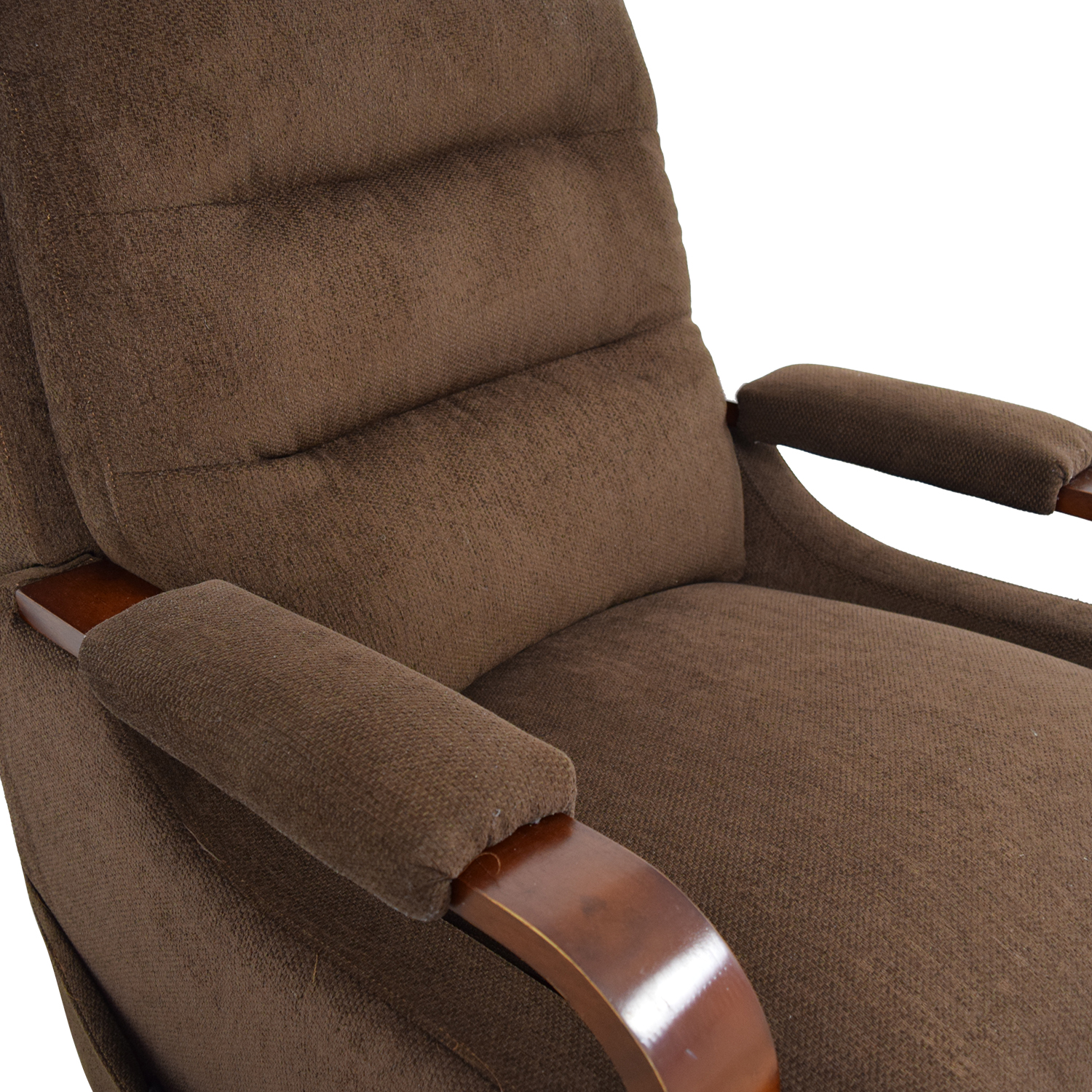 Bobs Furniture Brown Recliner Chair with Remote / Chairs