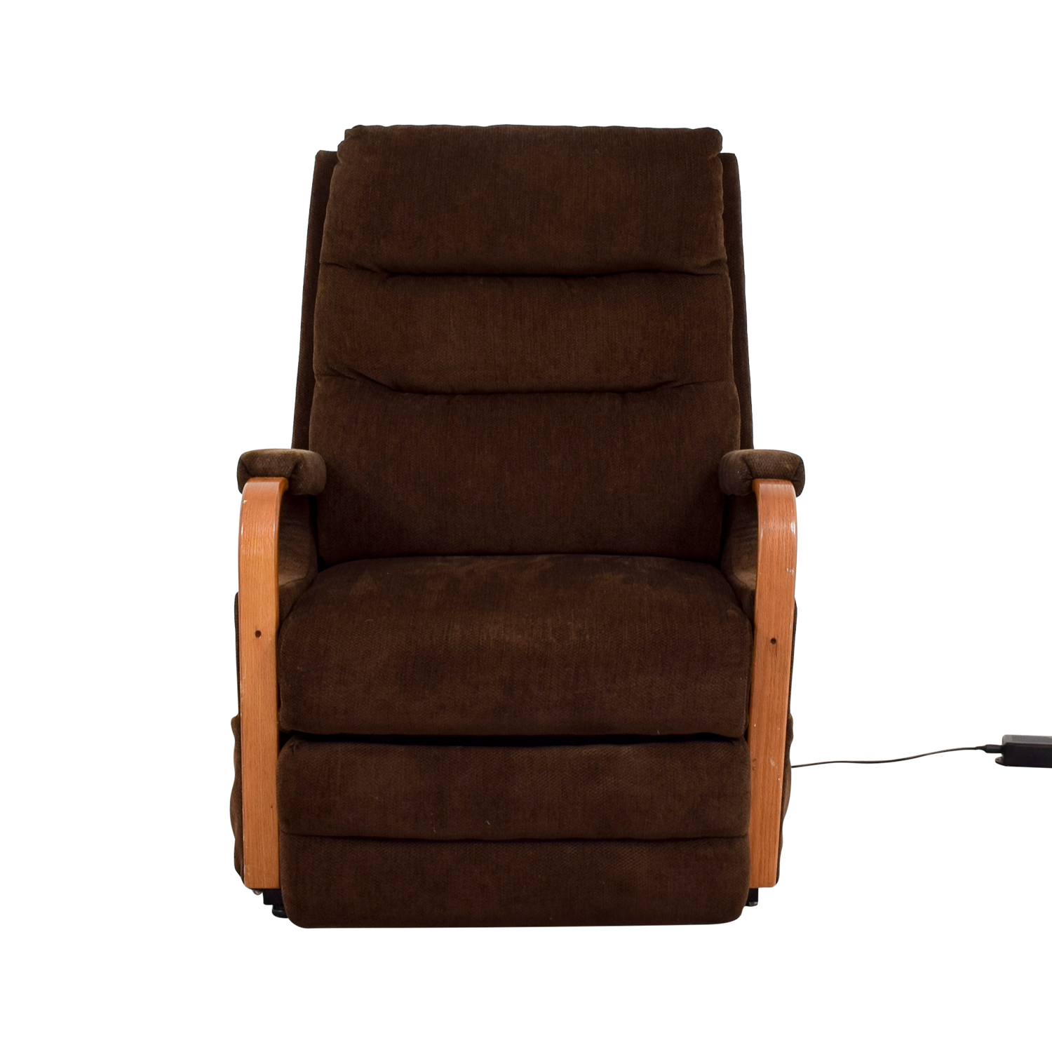 Bobs Furniture Brown Remote Control Recliner sale