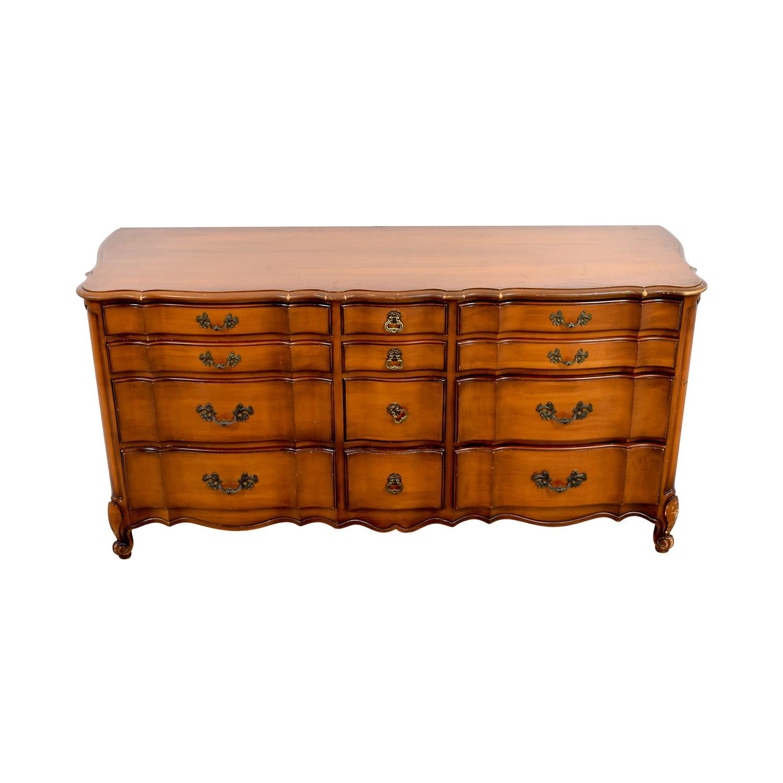 White Fine Furniture White Fine Furniture Twelve-Drawer Wide Dresser discount