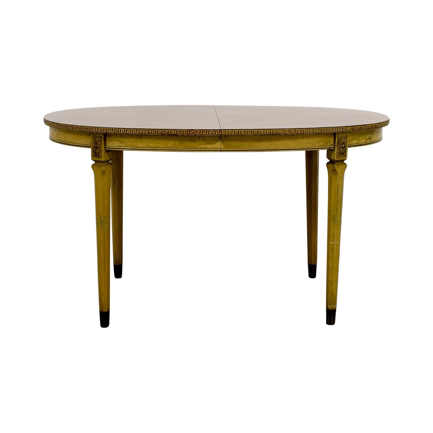 Vintage Greek Key Dining Table with Two Leaves on sale