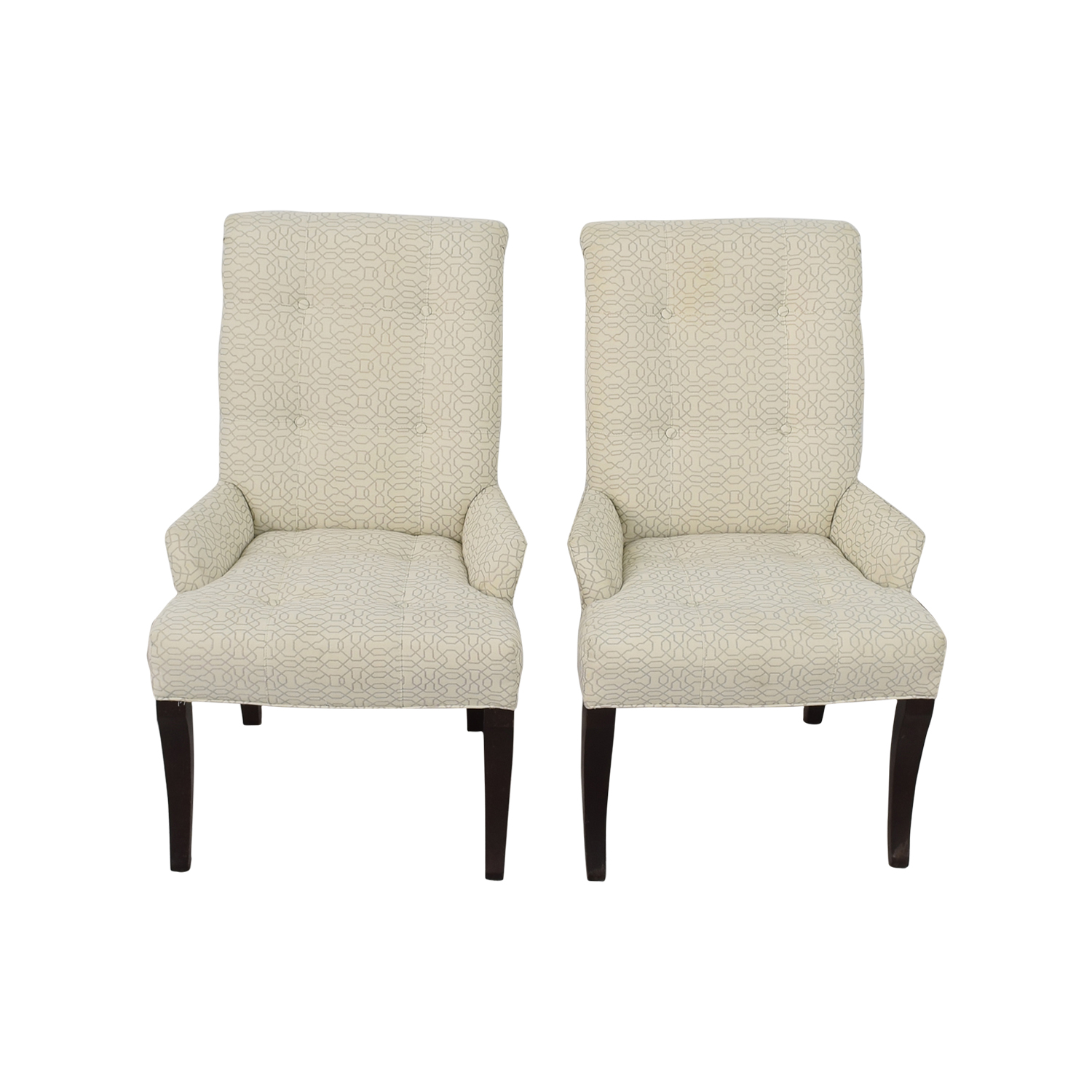 White Accent Chairs Used.75 Off Ethan Allen Ethan Allen Jaqueline White Accent Chair Chairs