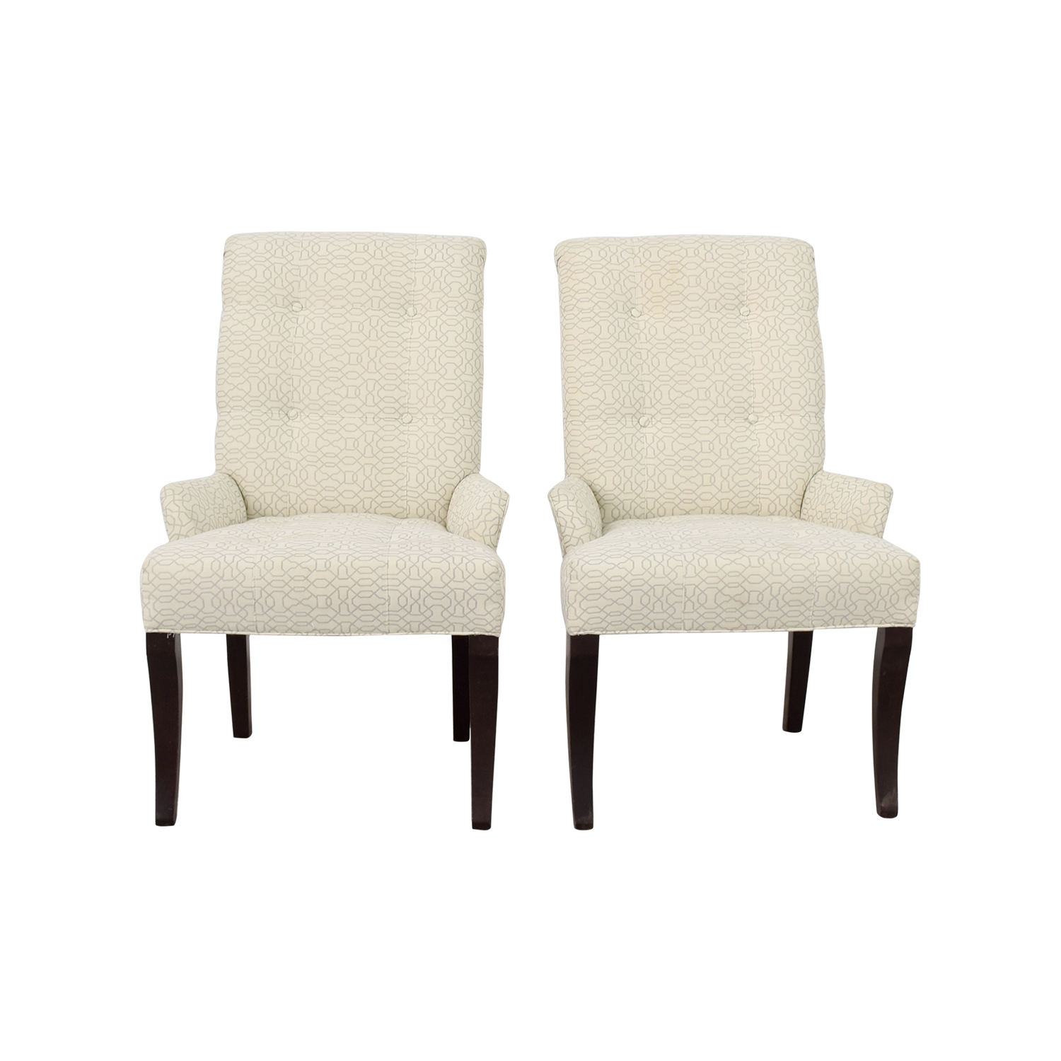 Simple White Accent Chair Minimalist