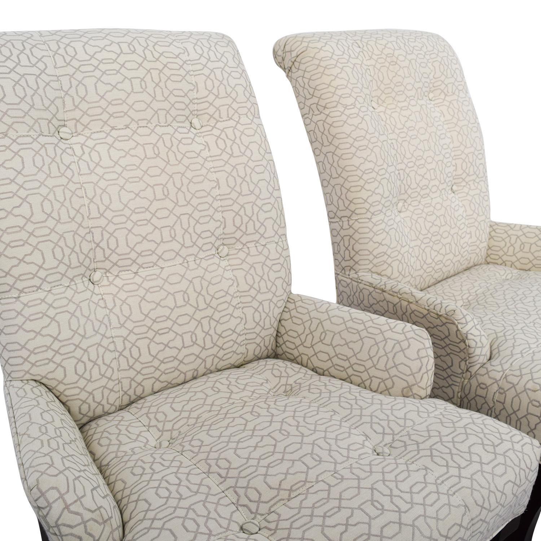 Ethan Allen Ethan Allen Jaqueline White Accent Chair second hand