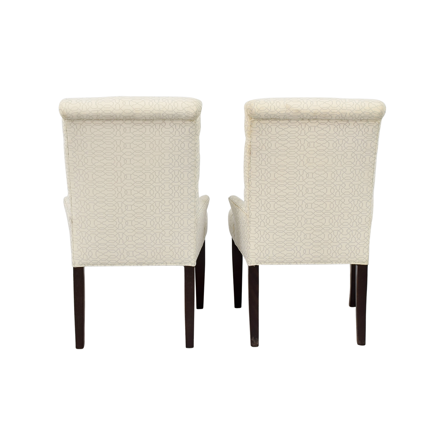 Ethan Allen Jaqueline White Accent Chair sale