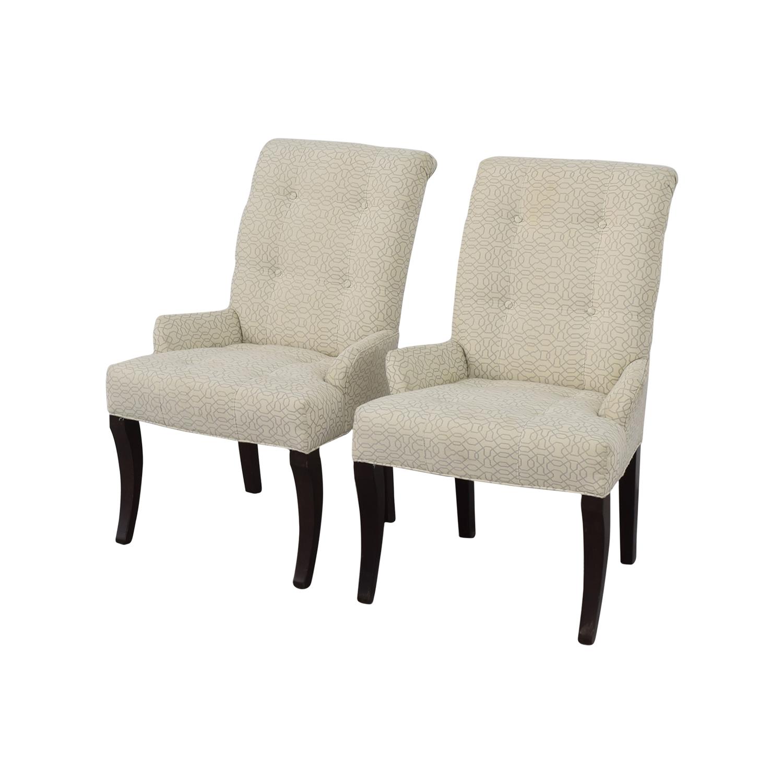 Ethan Allen Ethan Allen Jaqueline White Accent Chair on sale