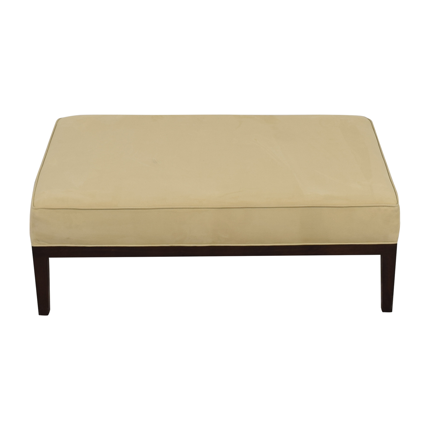 buy Tan Suede Bench Ottoman  Chairs
