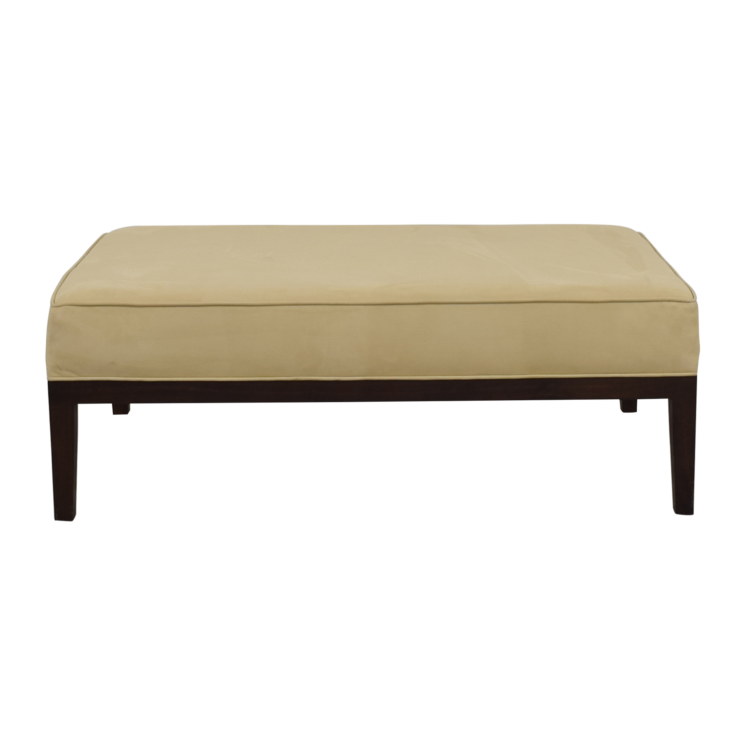 Tan Suede Bench Ottoman coupon