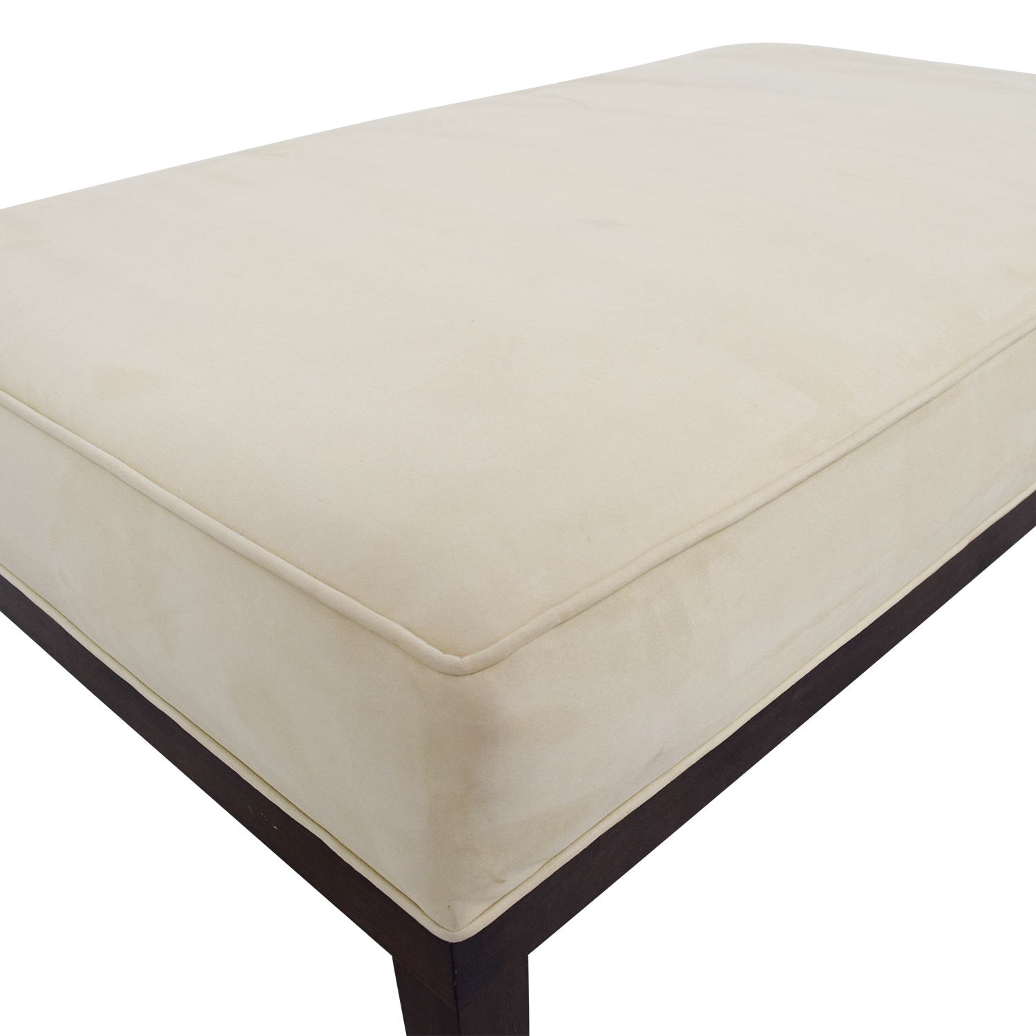 Tan Suede Bench Ottoman