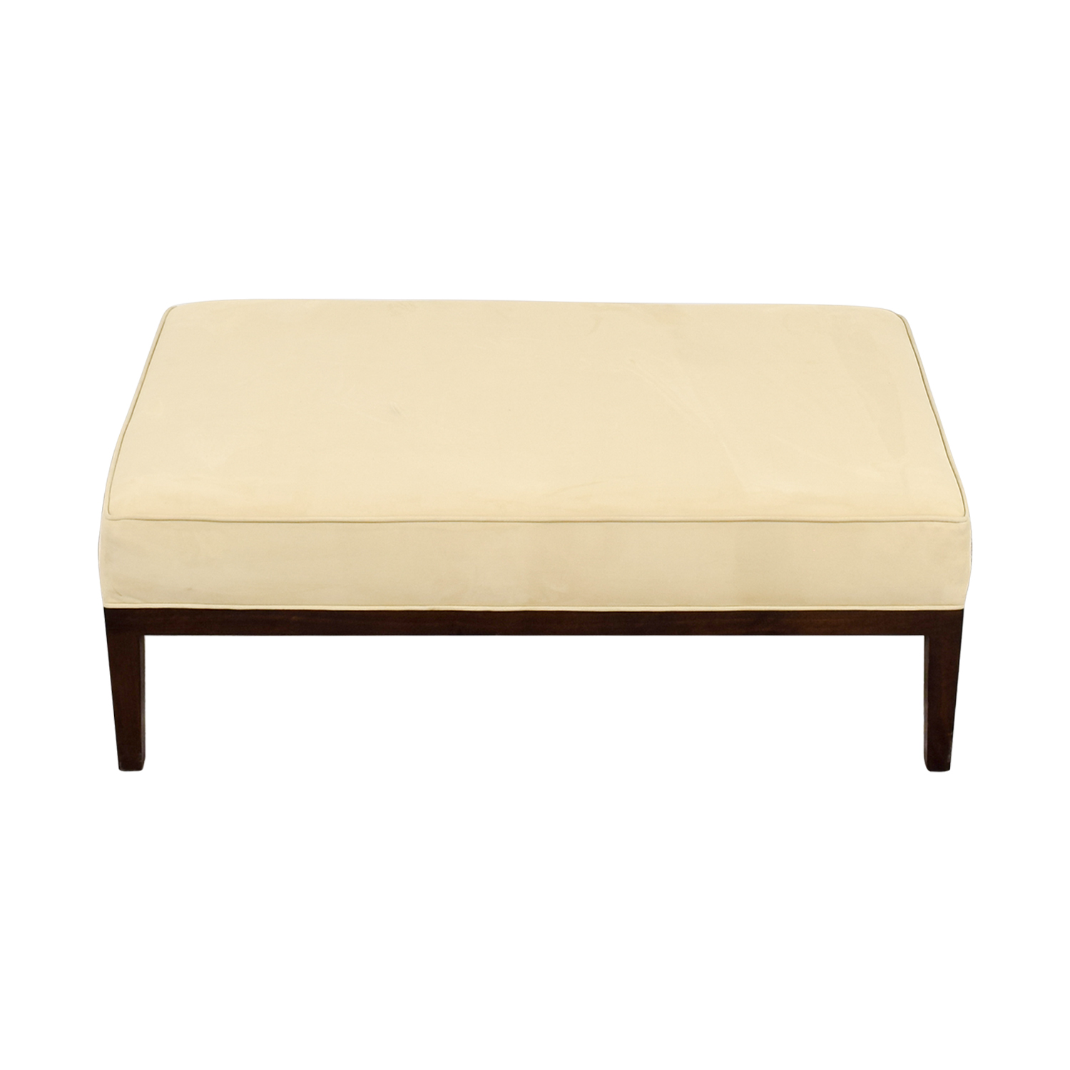 Tan Suede Bench Ottoman discount