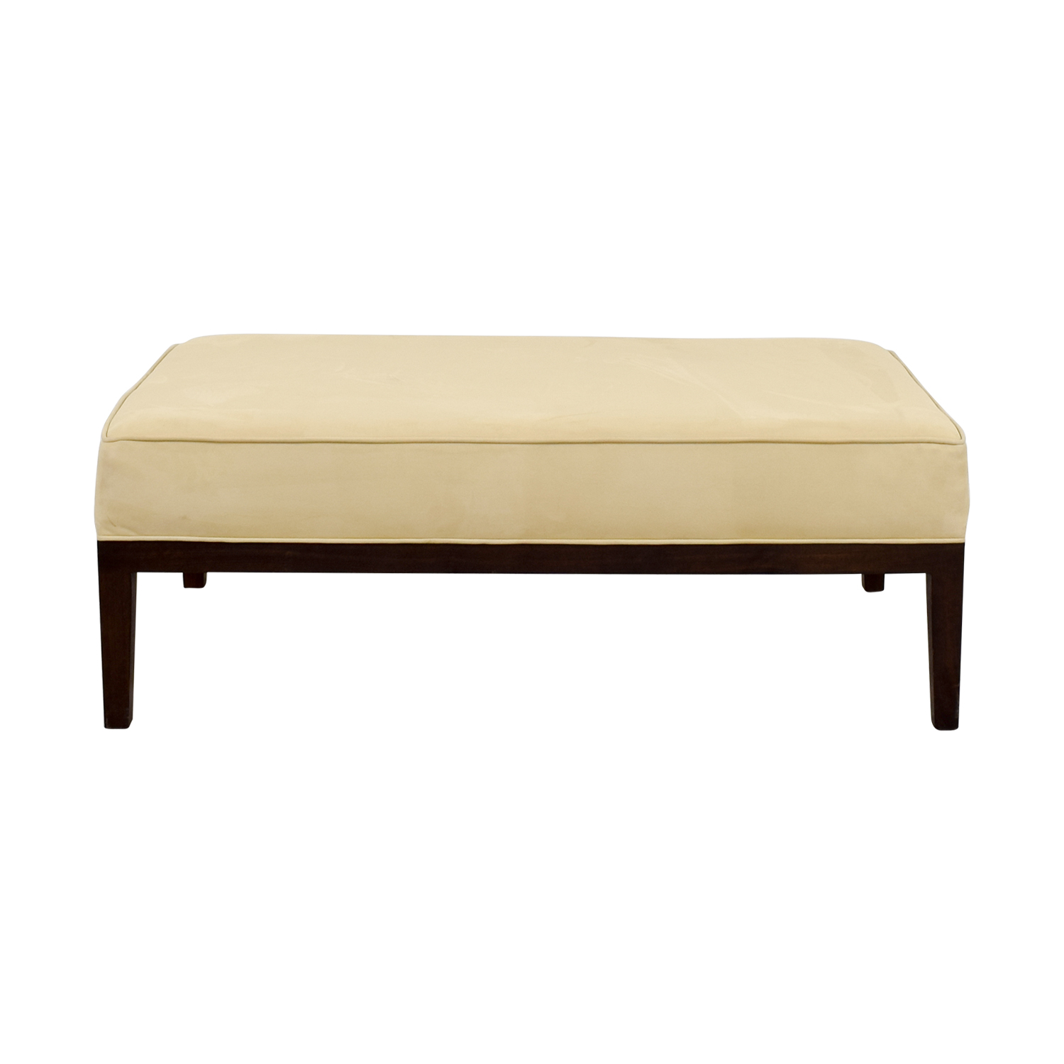 Tan Suede Bench Ottoman for sale
