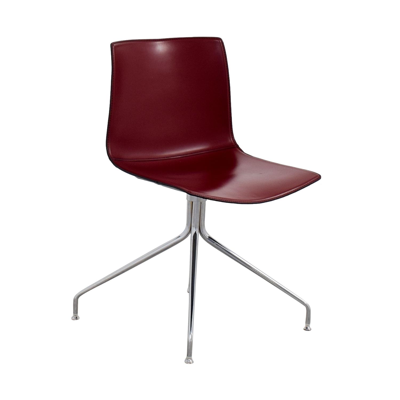 Arper Catifa 53 Burgundy Leather Armchair / Chairs