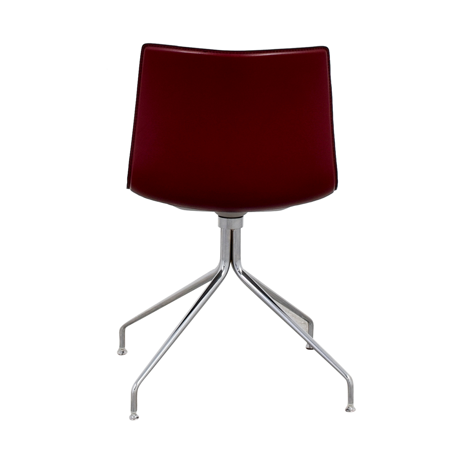 Arper Catifa 53 Burgundy Leather Armchair Arper