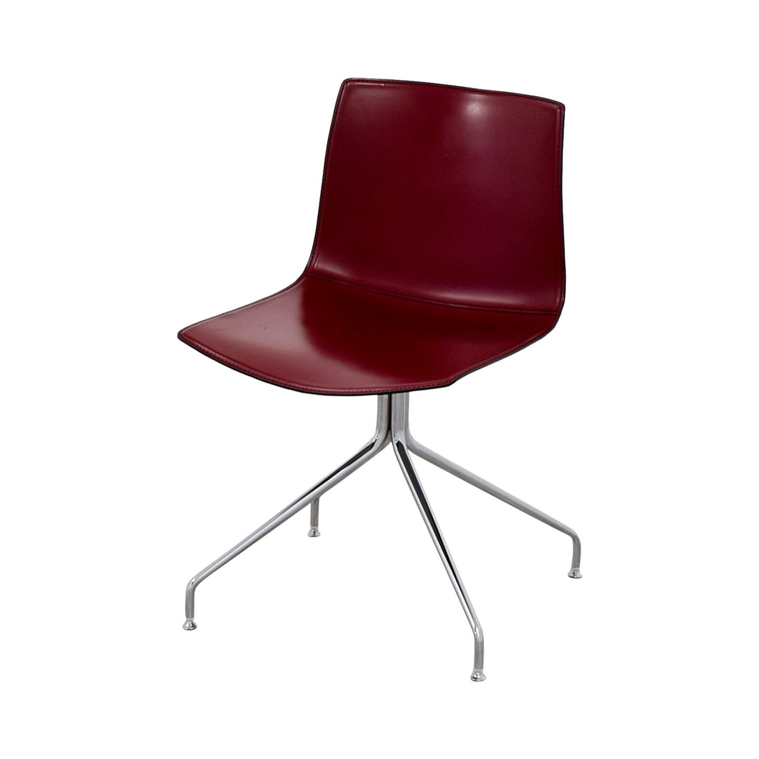 Arper Arper Catifa 53 Burgundy Leather Armchair on sale