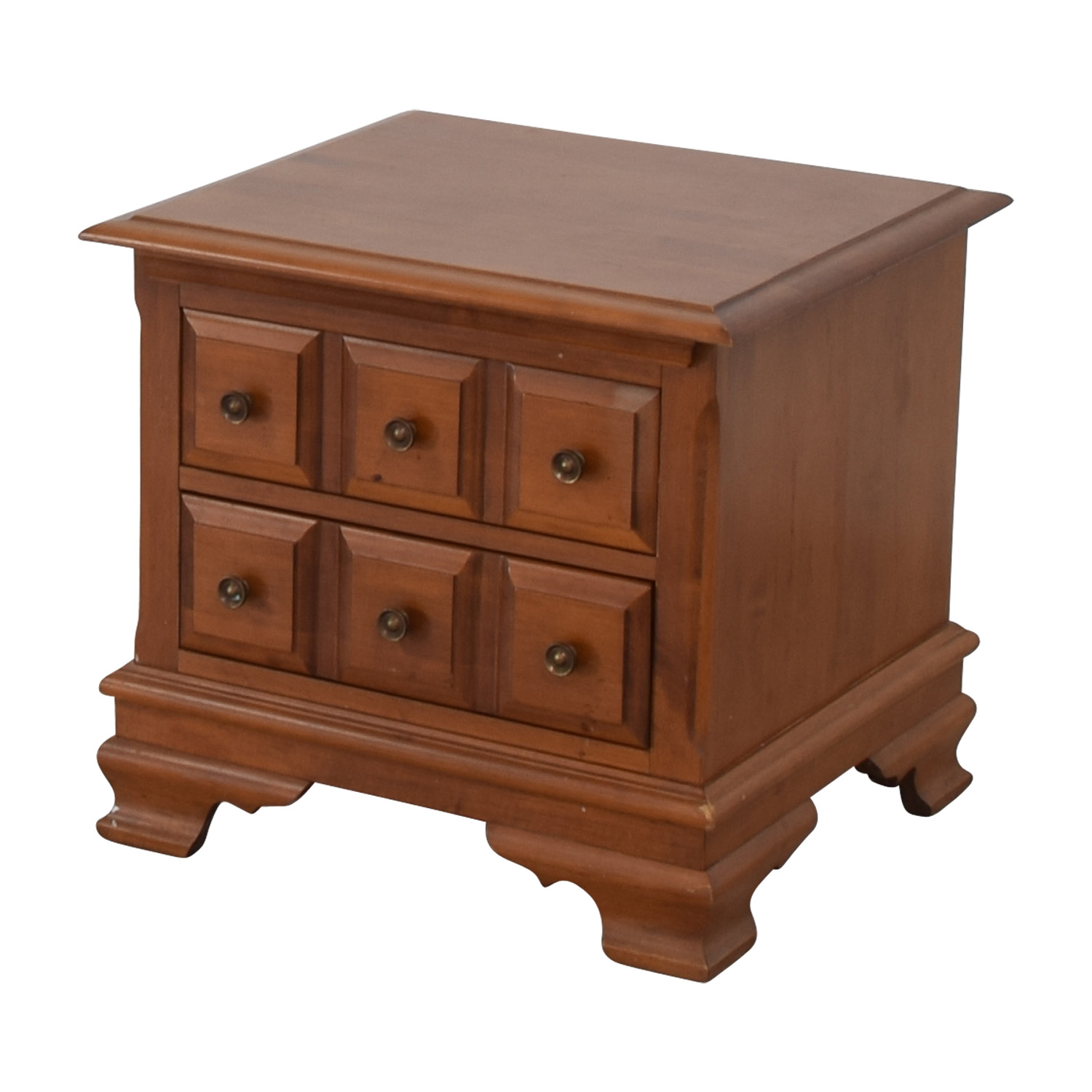 Vilas Vilas Two-Drawer Solid Oak Nightstand second hand