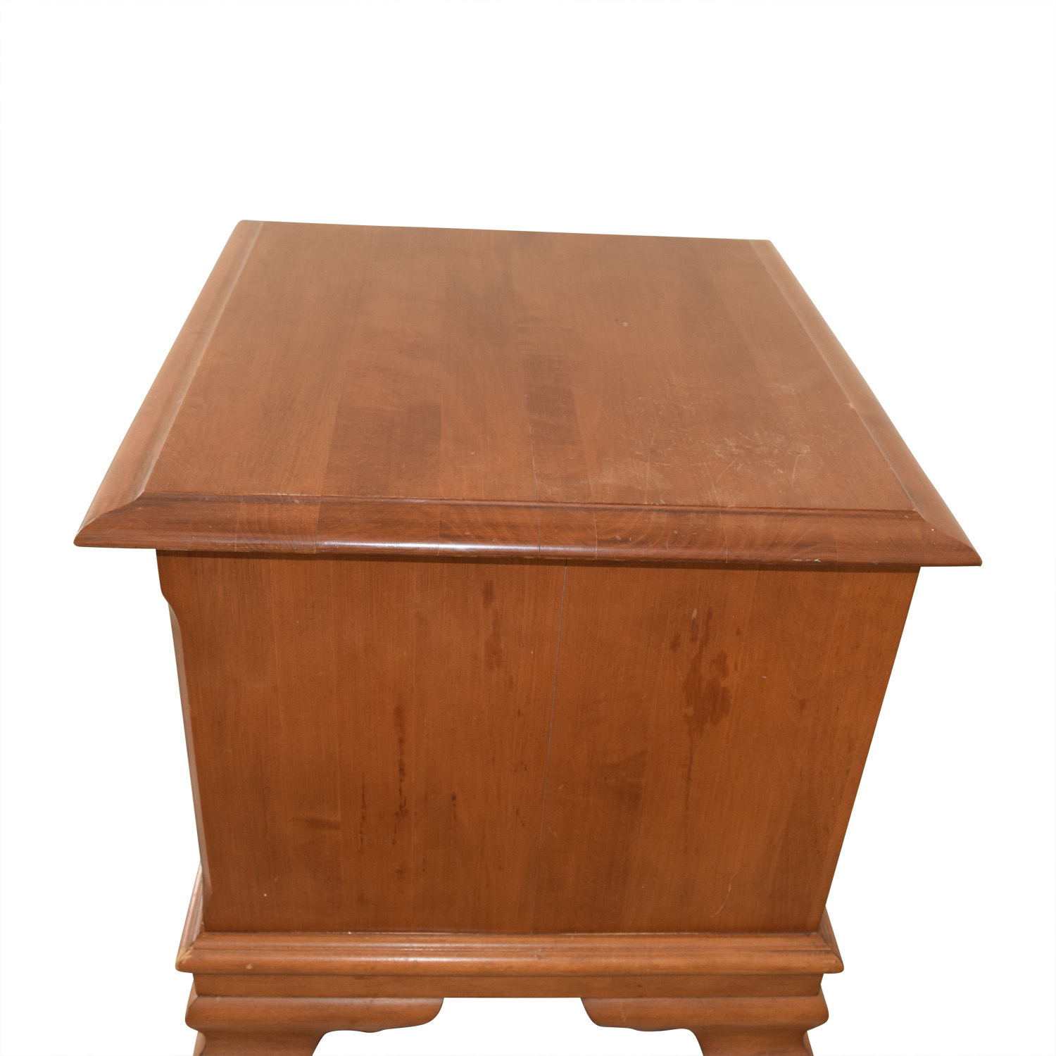 buy Vilas Two-Drawer Solid Oak Nightstand Vilas End Tables