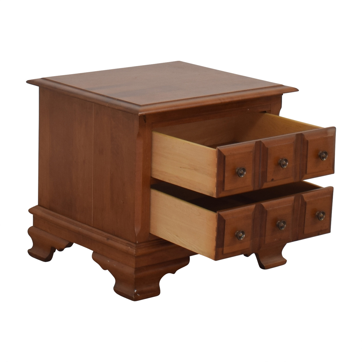 Vilas Two-Drawer Solid Oak Nightstand Vilas