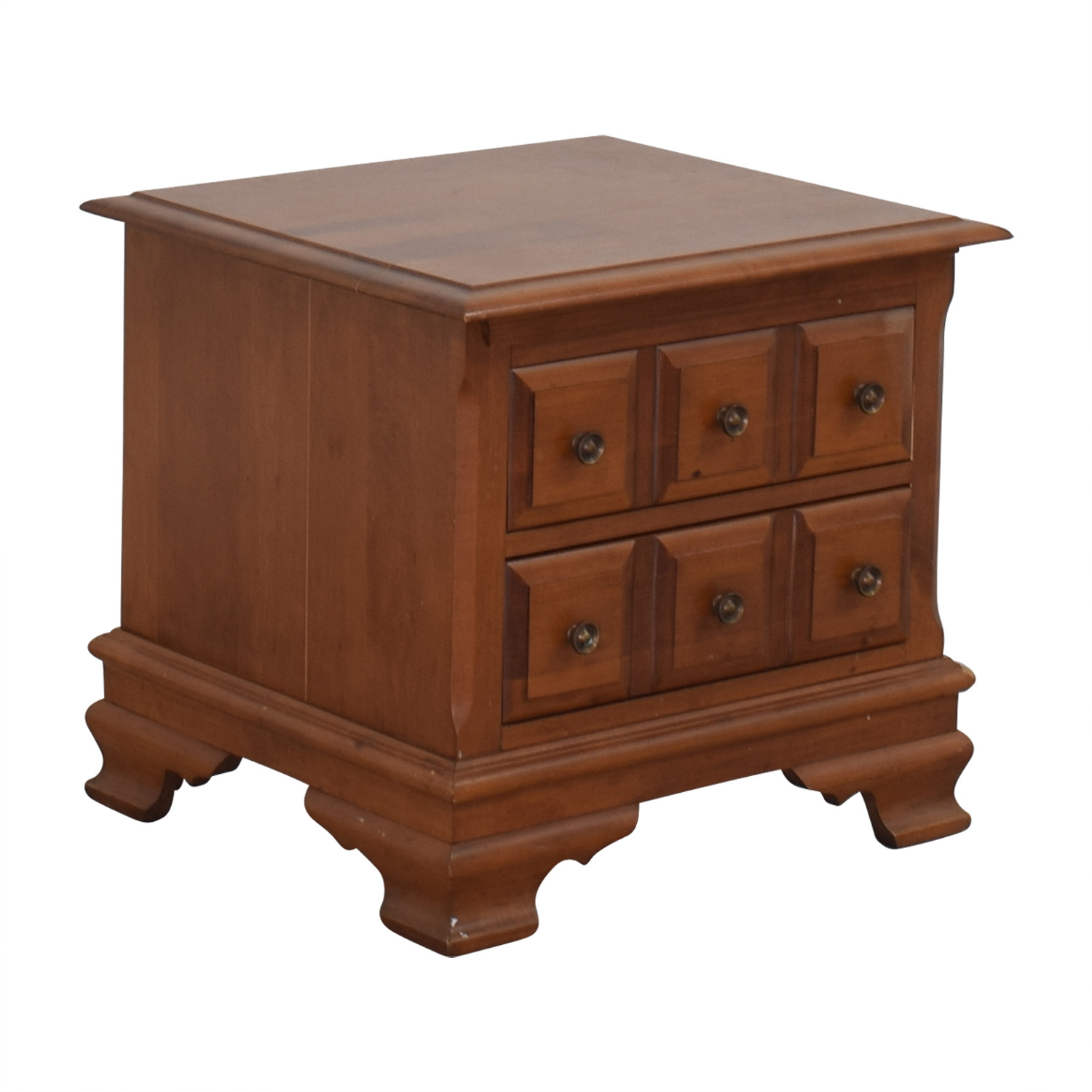 buy Vilas Two-Drawer Solid Oak Nightstand Vilas Tables
