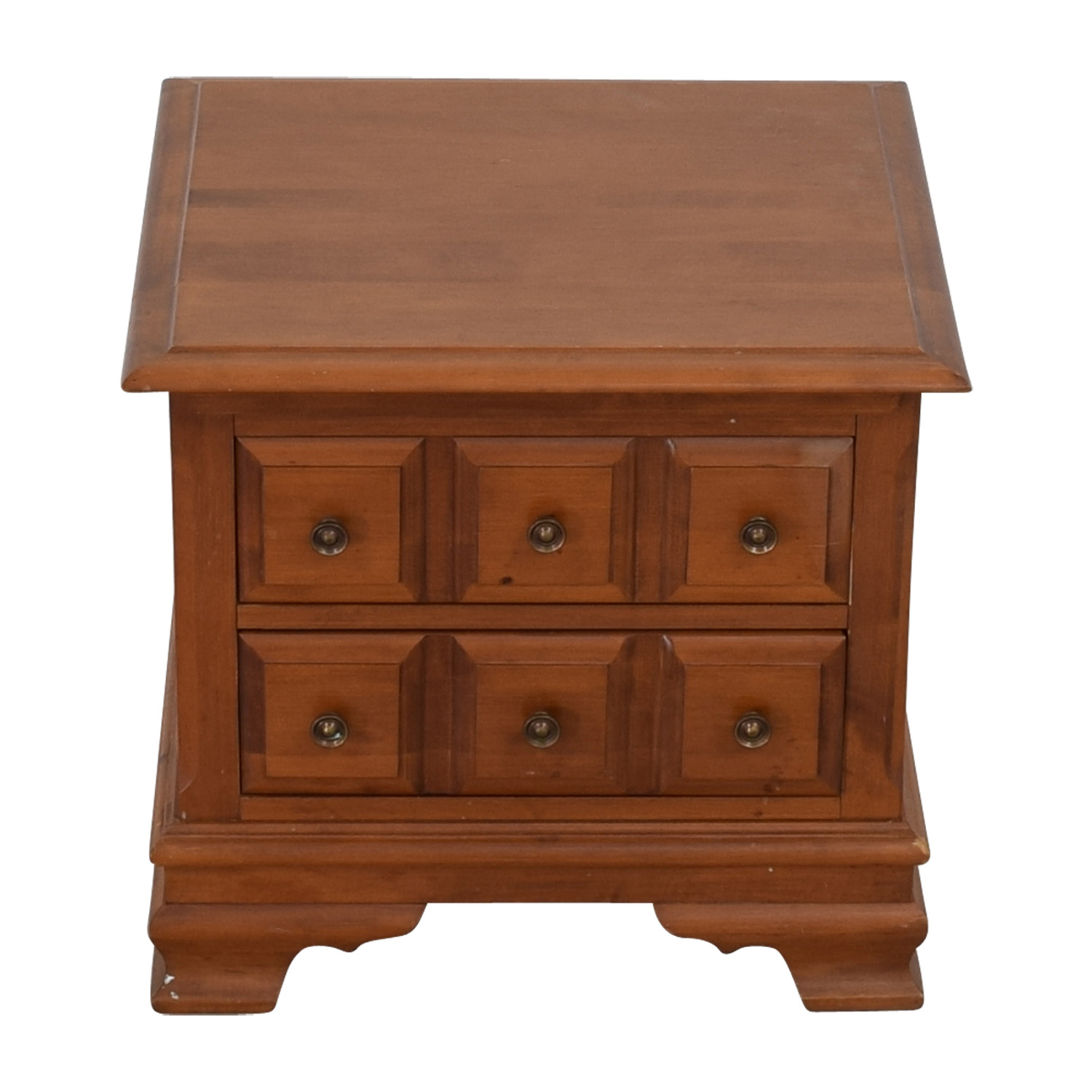Vilas Vilas Two-Drawer Solid Oak Nightstand used