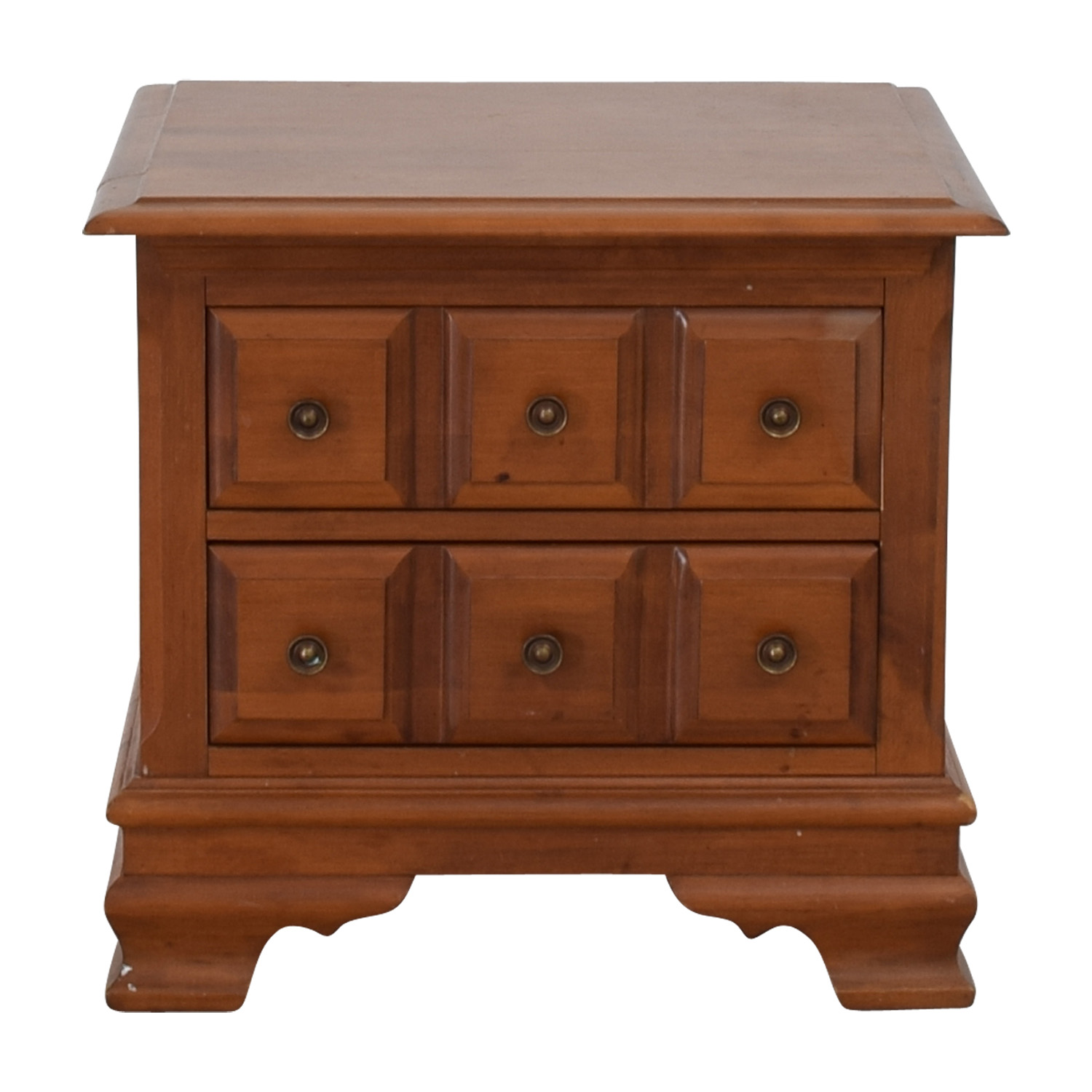 Vilas Vilas Two-Drawer Solid Oak Nightstand nyc