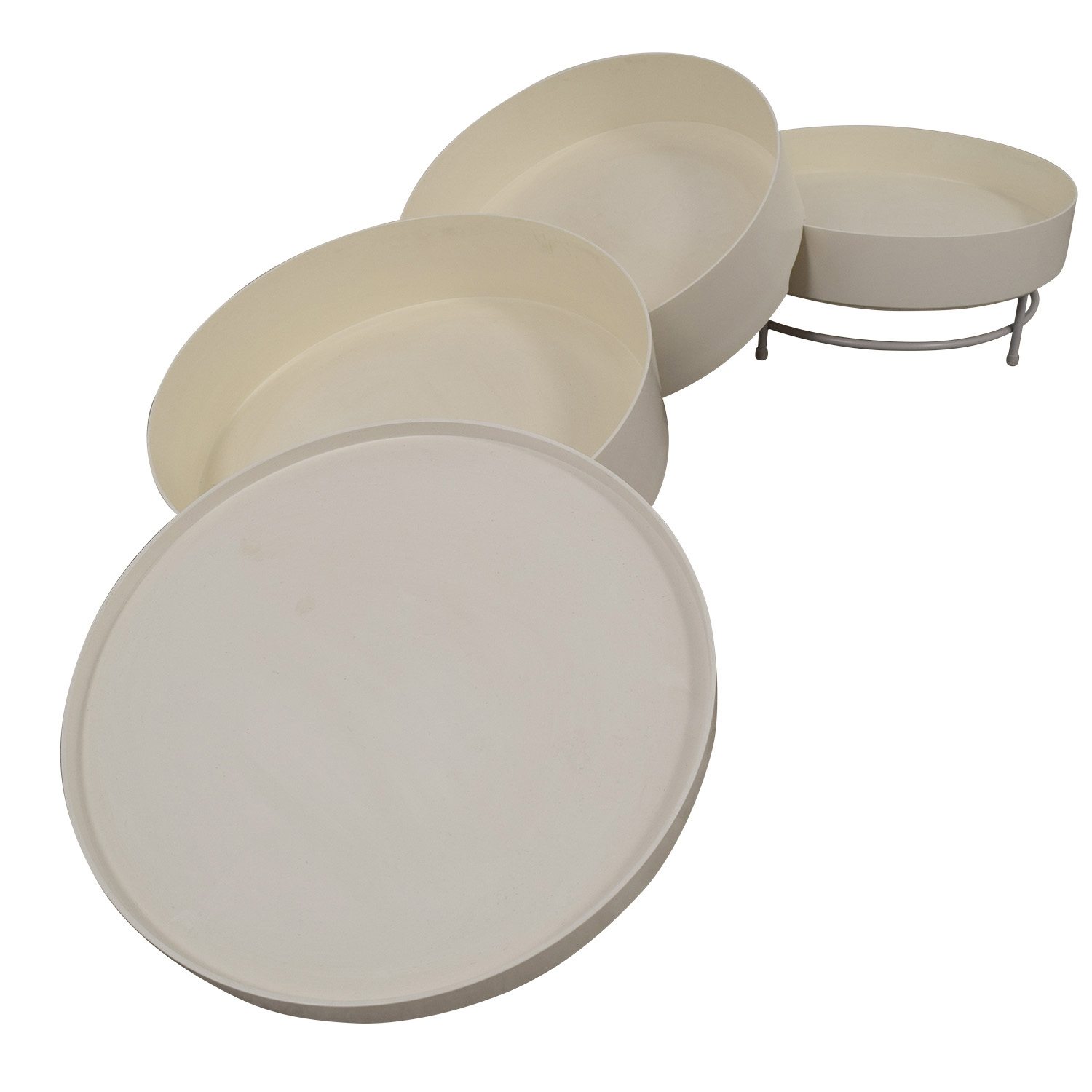 buy IKEA PS 2014 White Round Storage Table IKEA End Tables