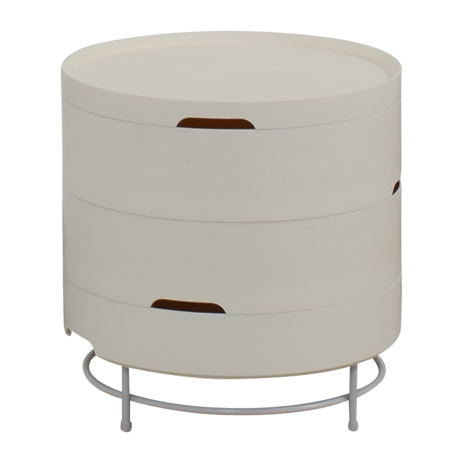 57 off ikea ikea ps 2014 white round storage table tables for Ikea end tables salon