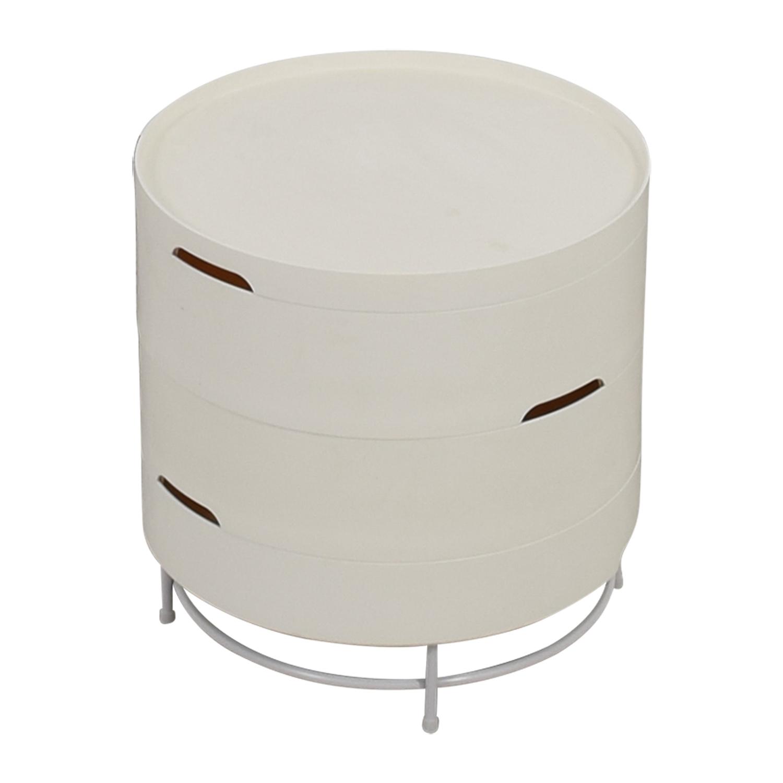 Terrific 57 Off Ikea Ikea Ps 2014 White Round Storage Table Tables Lamtechconsult Wood Chair Design Ideas Lamtechconsultcom