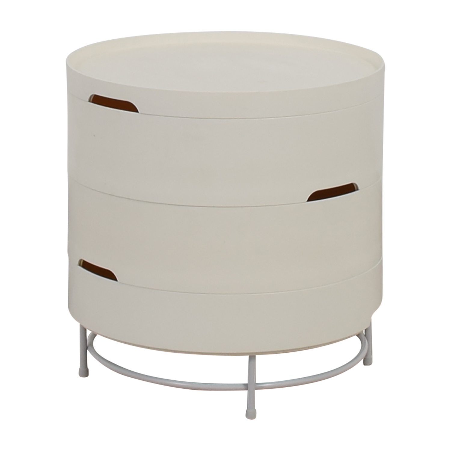 Ikea Ps 2017 White Round Storage Table Nj