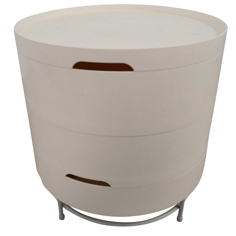 buy IKEA PS 2014 White Round Storage Table IKEA Tables