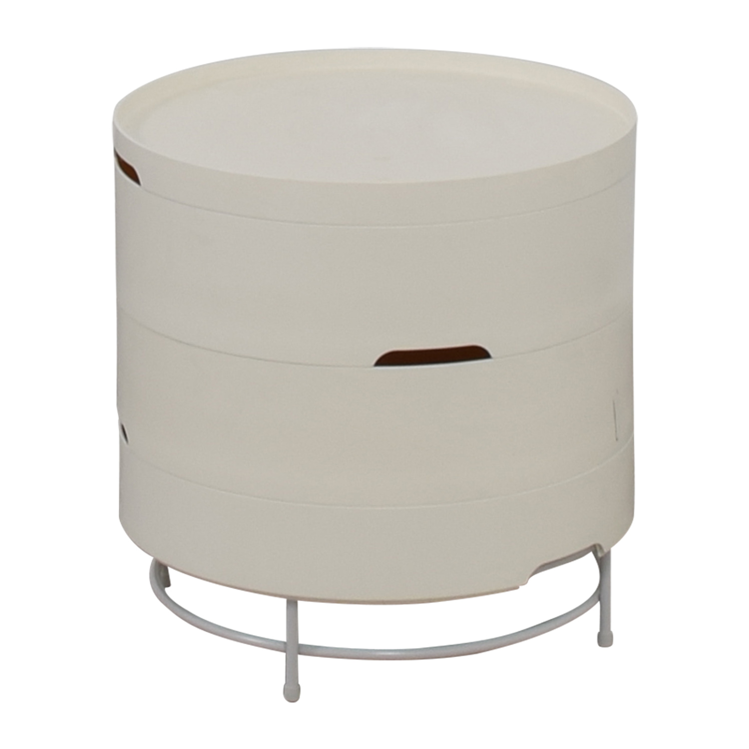 57 off ikea ikea ps 2014 white round storage table tables. Black Bedroom Furniture Sets. Home Design Ideas