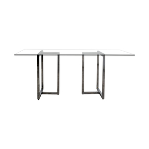 shop CB2 CB2 Silverado Rectangular Glass and Chrome Dining Table online