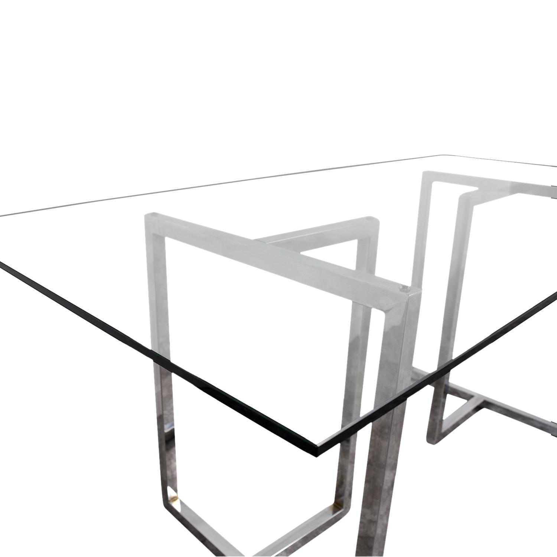 Awe Inspiring 69 Off Cb2 Cb2 Silverado Rectangular Glass And Chrome Dining Table Tables Beatyapartments Chair Design Images Beatyapartmentscom