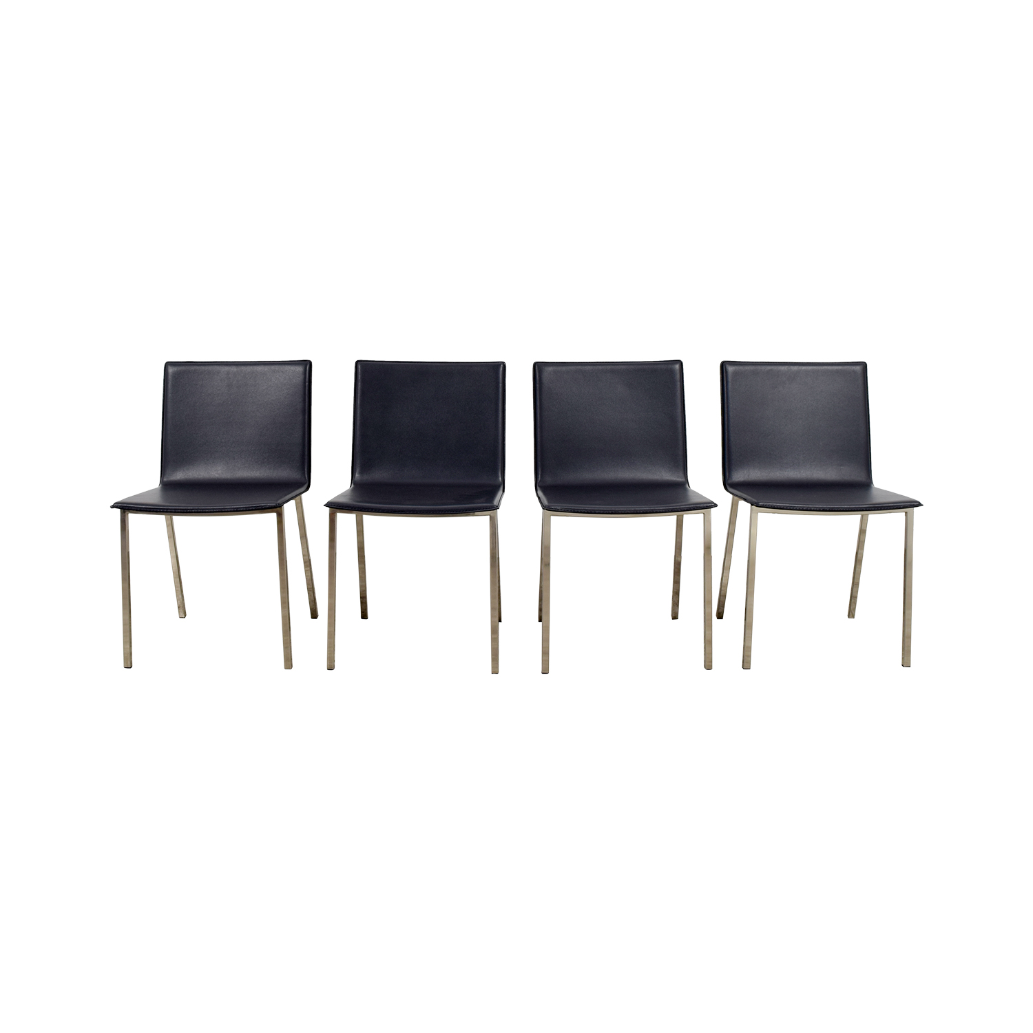 CB2 CB2 Grey Leather Chairs nyc