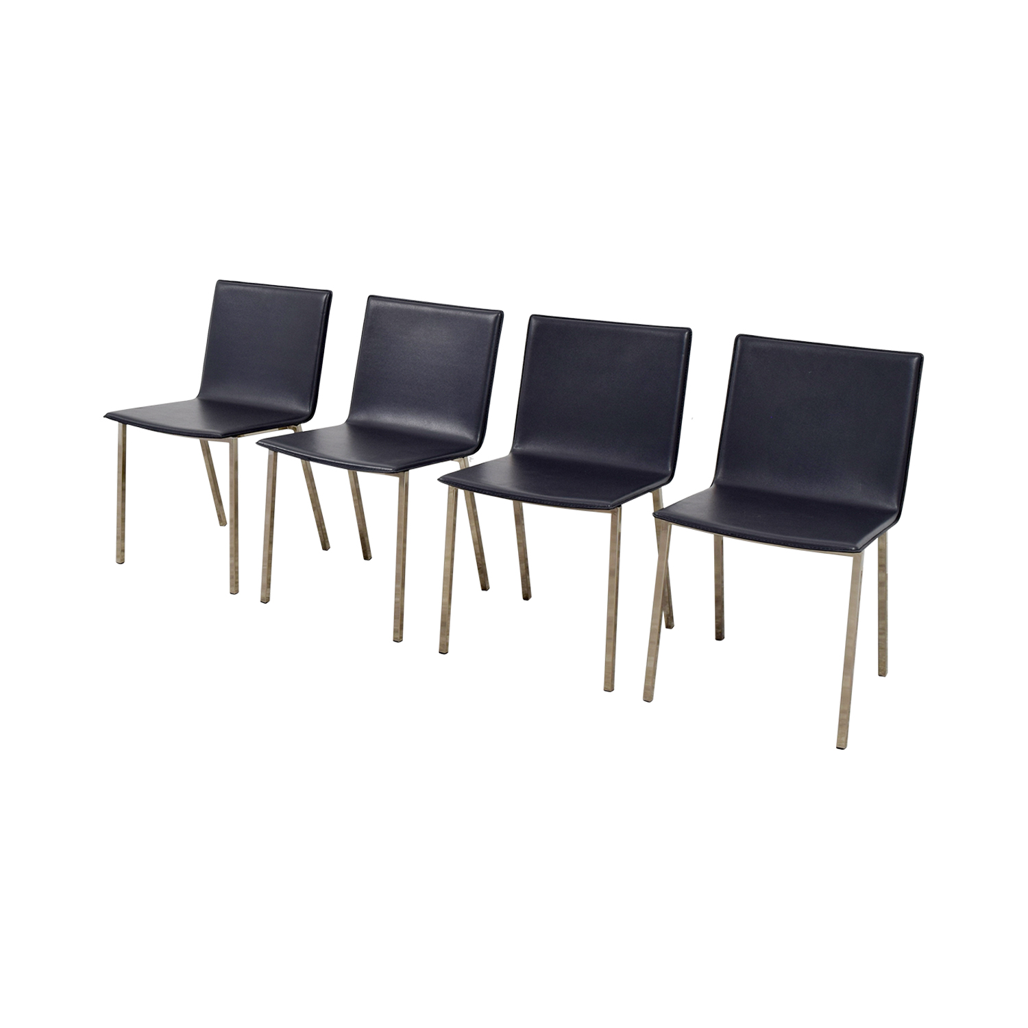 buy CB2 Grey Leather Chairs CB2 Dining Chairs