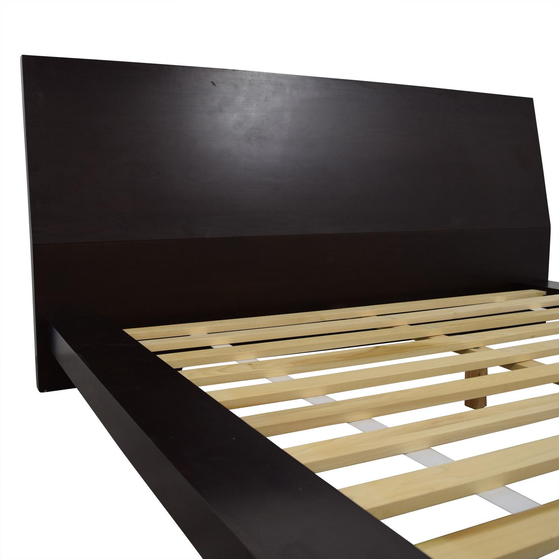 Crate & Barrel Crate & Barrel Dark Wood Queen Platform Bed Frame Beds