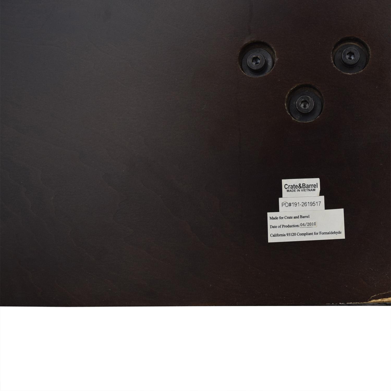 buy Crate & Barrel Dark Wood Queen Platform Bed Frame Crate & Barrel Beds