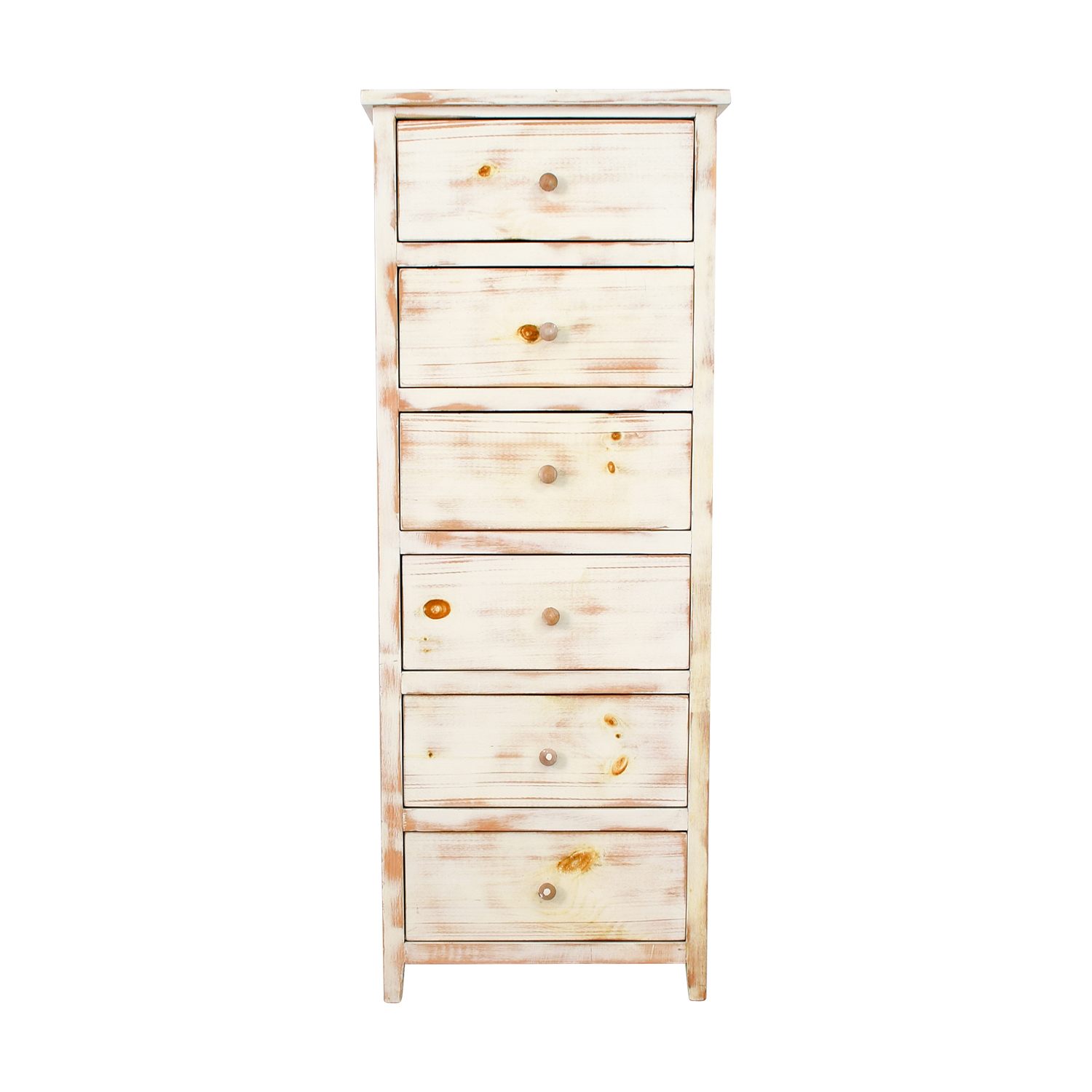 Light Brown Cream Wash Wood Six-Drawer Dresser price