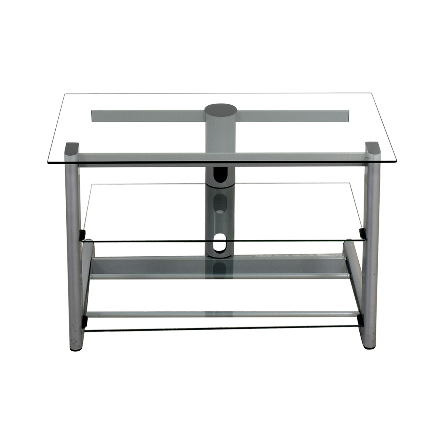 shop Three-Tiered Glass TV Credenza Media Units