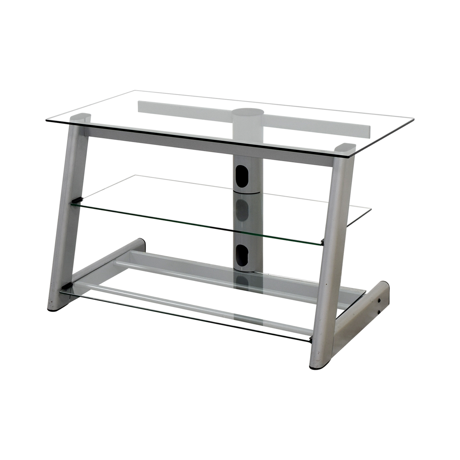 Three-Tiered Glass TV Credenza discount