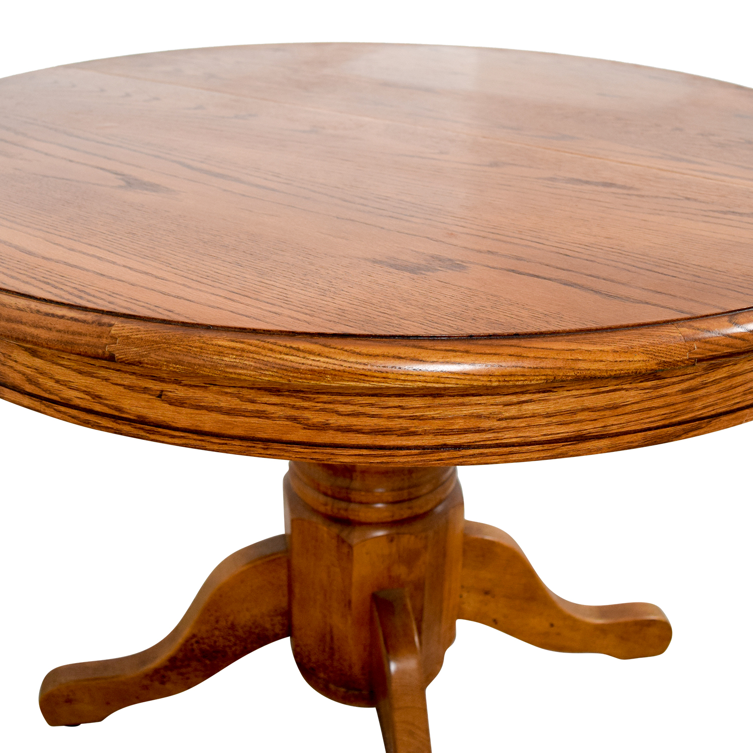 shop Poundex Round Wood Extendable Dining Table Poundex Dinner Tables
