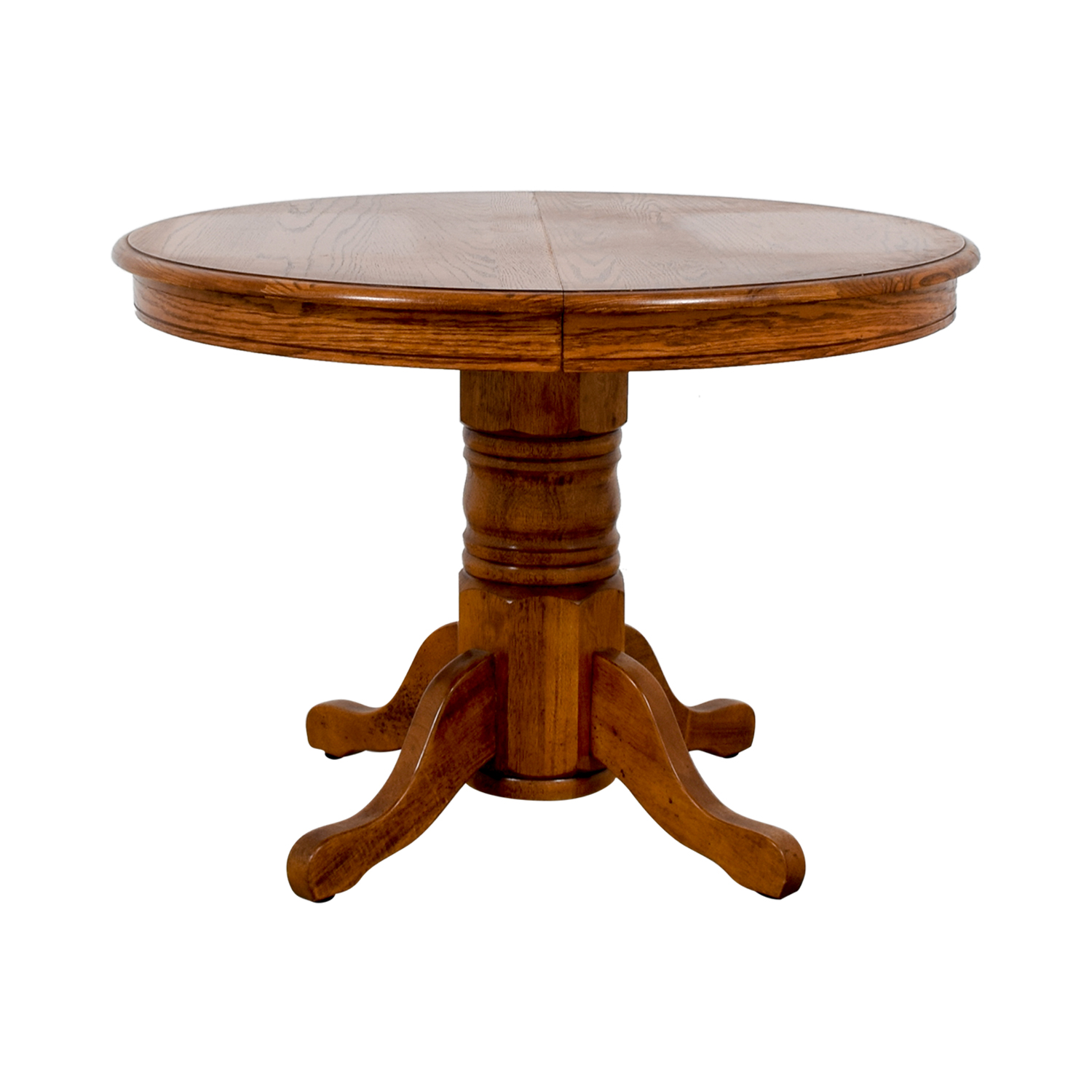 Poundex Round Wood Extendable Dining Table Poundex