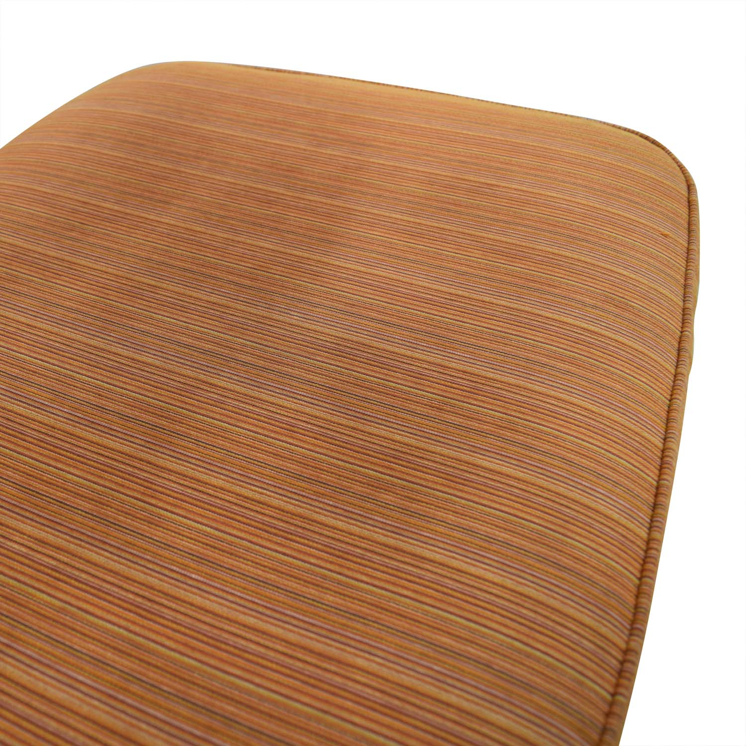 shop Room & Board Orange Striped Lounge Chair & Ottoman Room & Board