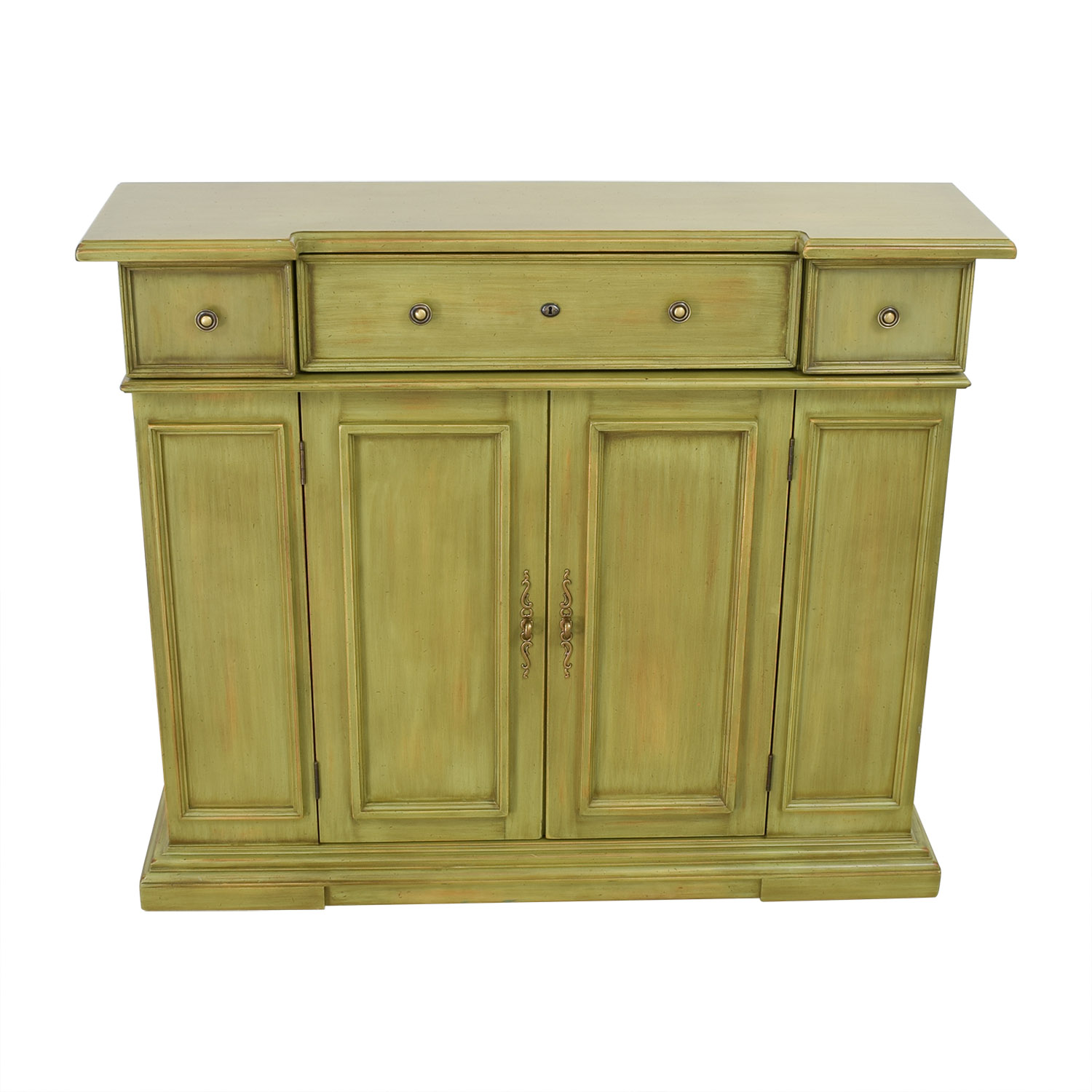 shop Breakfront Lime Green Cabinet With Storage Breakfront Storage