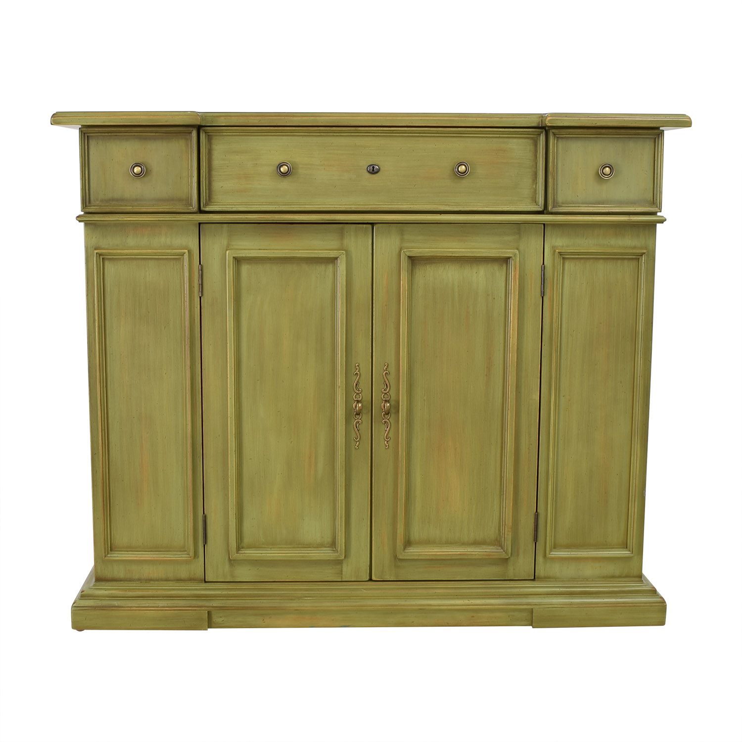 Breakfront Breakfront Lime Green Cabinet With Storage price