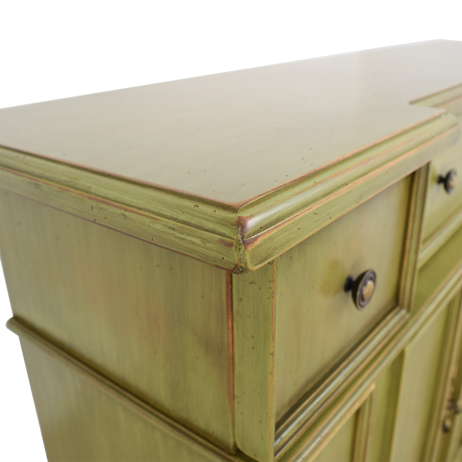 Breakfront Lime Green Cabinet With Storage sale