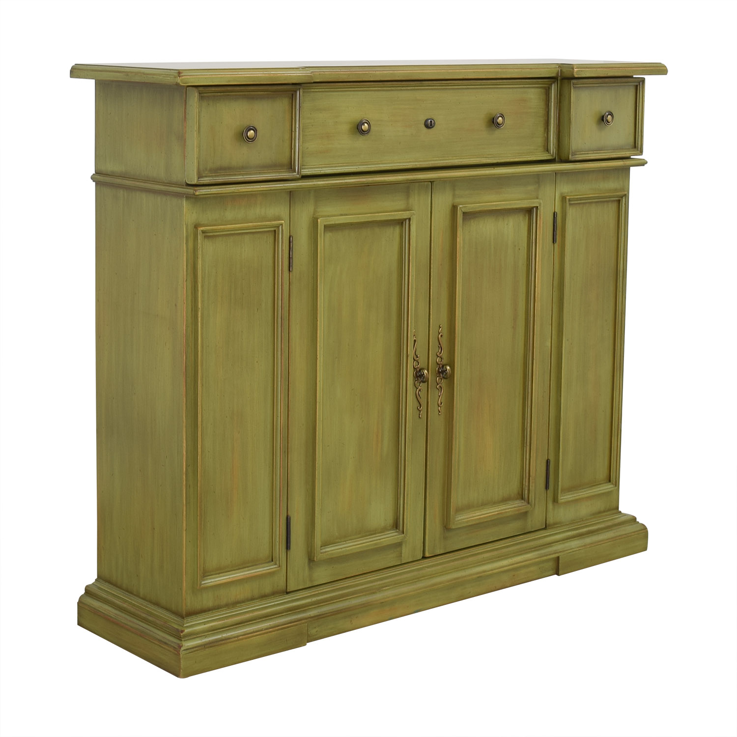 Breakfront Breakfront Lime Green Cabinet With Storage nj