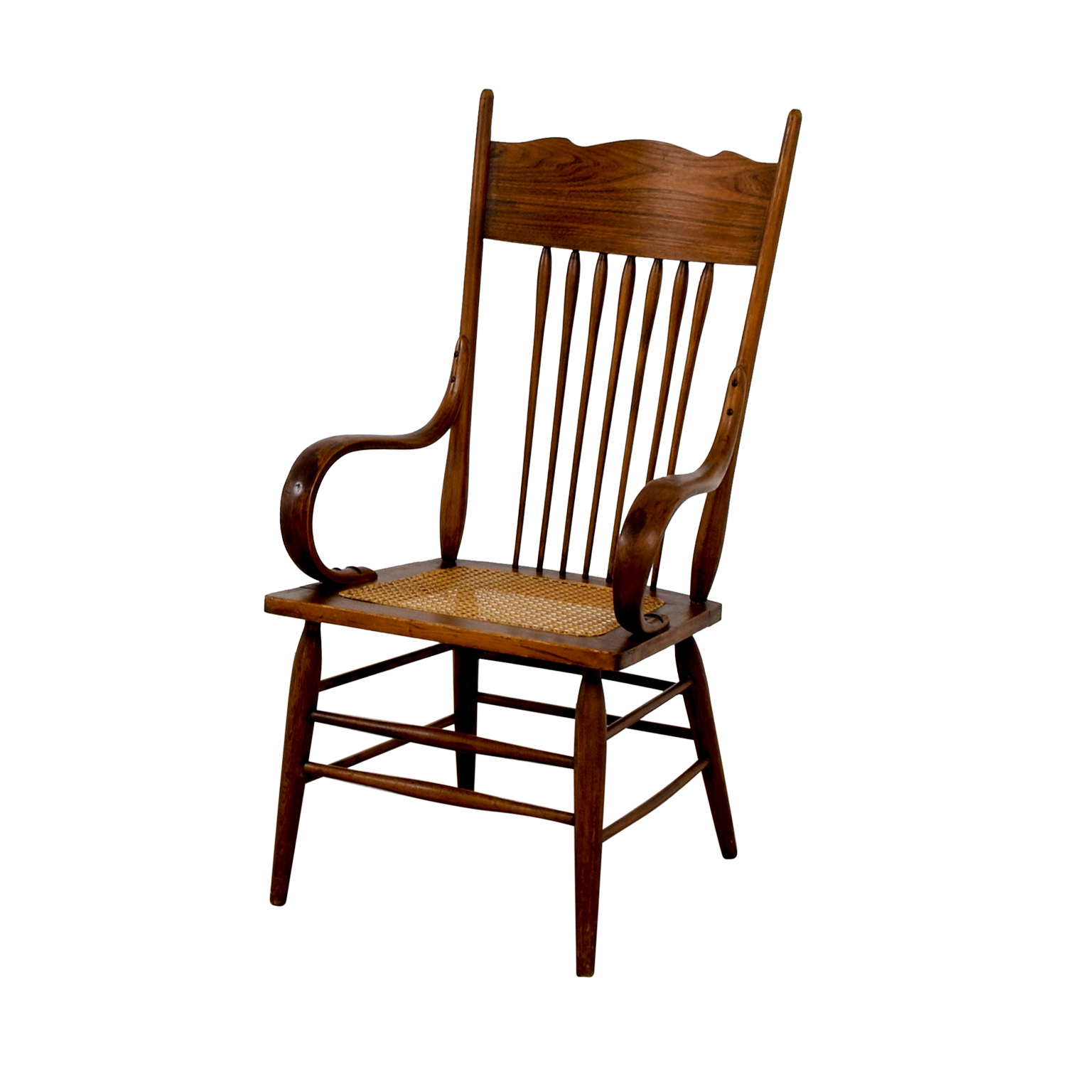 Vintage Wood Cane Armchair nyc