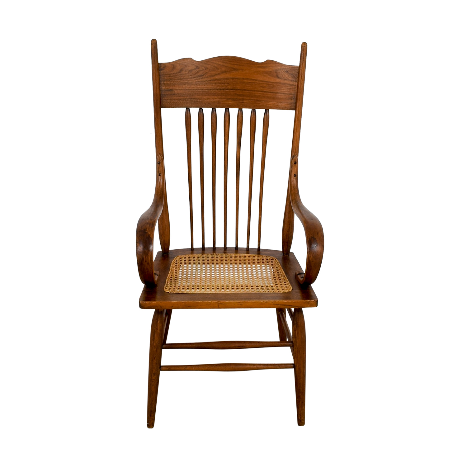 Vintage Wood Cane Armchair price