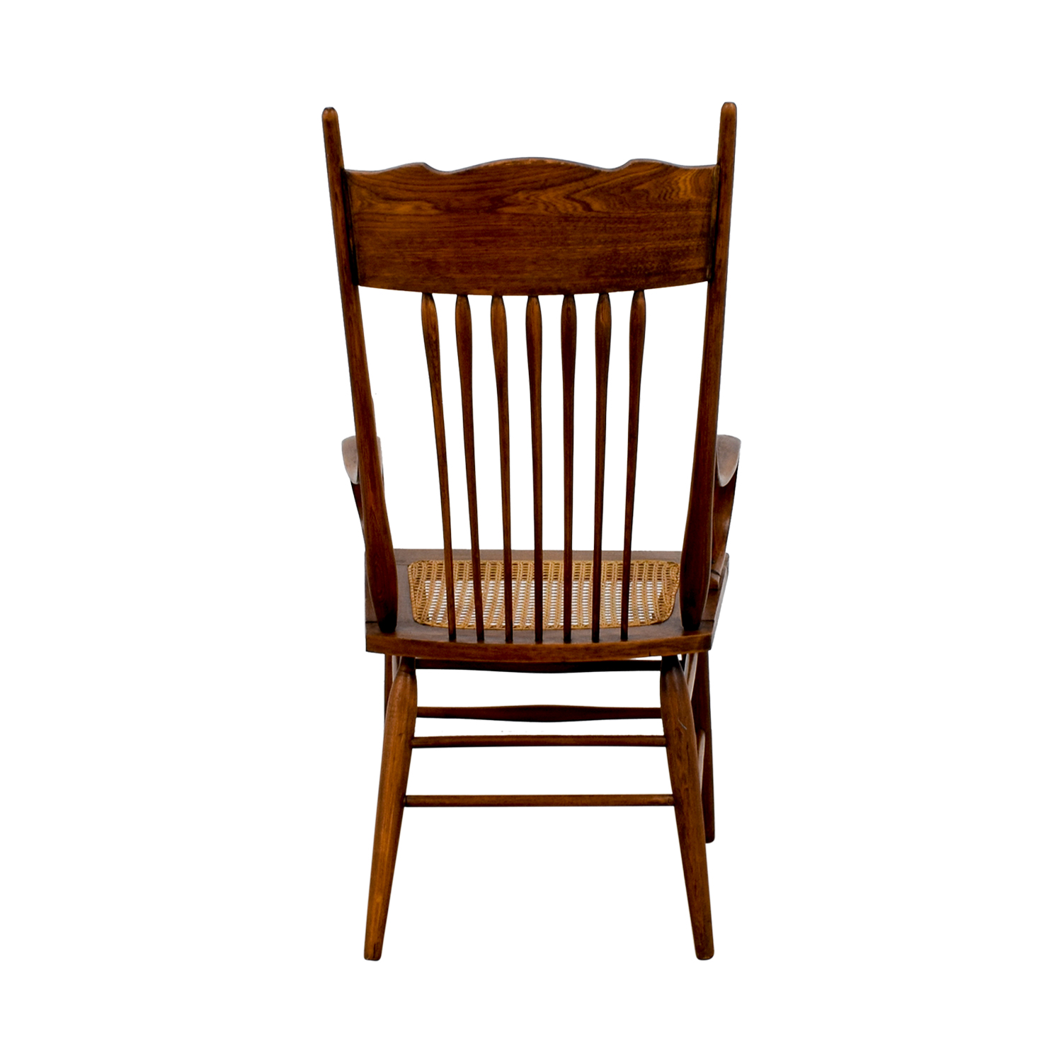 Vintage Wood Cane Armchair sale